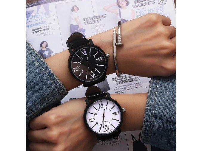 Dámske náramkové hodinky čierné, bielé- Darčeky pre ženy a dievčatá (Farba Biela)