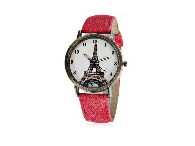 Dámské hodinky s motivem Paříže - SLEVA 25% (Barva Žlutá)