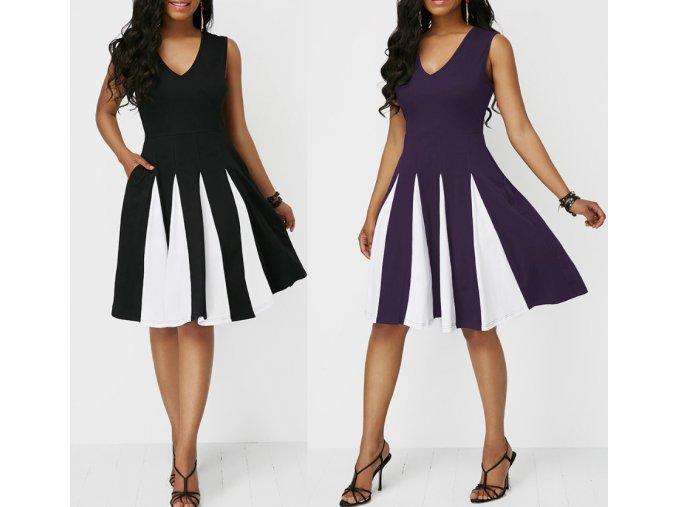 Dámske spoločenské plesové šaty pre plnoštíhle viac farieb až 5XL (Farba Čierna, Velikost S)