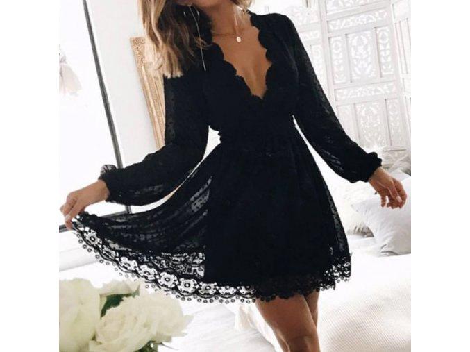 Dámske šaty spoločenské šaty spoločenské šaty na svadbu plesové šaty spoločenské šaty - rafinované večerné šaty s čipkou (Velikost XL)