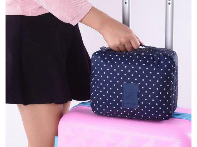 Dámský cestovník kufřík na kosmetiku organizér na cesty na dovolenou (Varianta: 5)