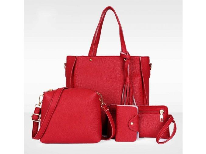 Dámský kabelkový set - 4ks - různé barvy - SLEVA 60% (Barva Šedá)