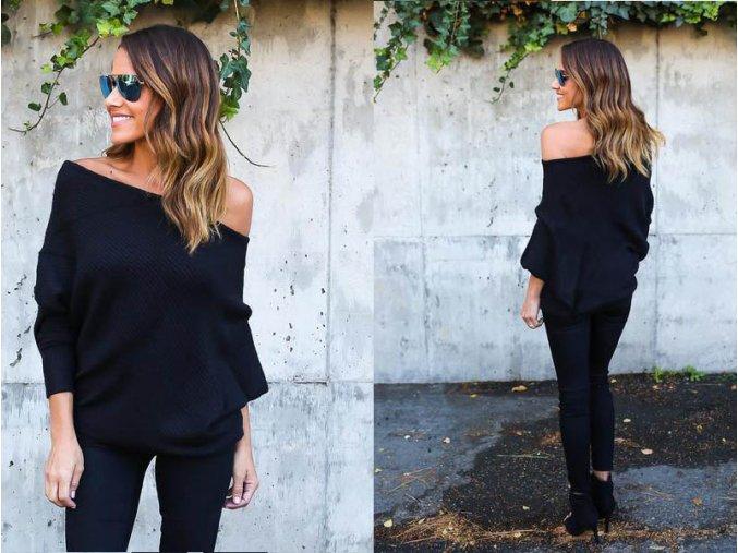 Elegantní dámský svetřík - SLEVA 30% (Barva Vínová, Velikost S)