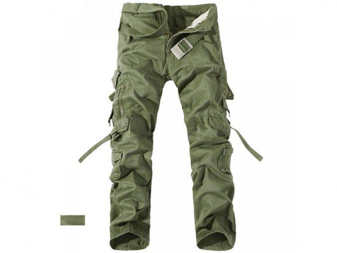 Pánské zelené kalhoty kapsáče (Vel 42)