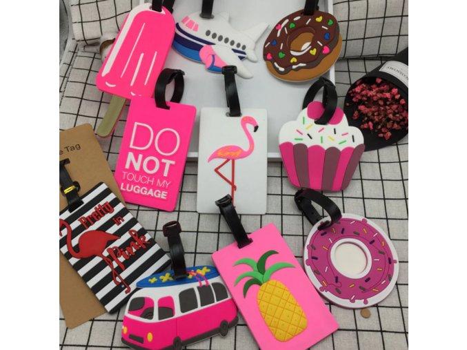 Visačka, menovka na kufor, batožinu- rôzne obrázky (Obrázok Donut)
