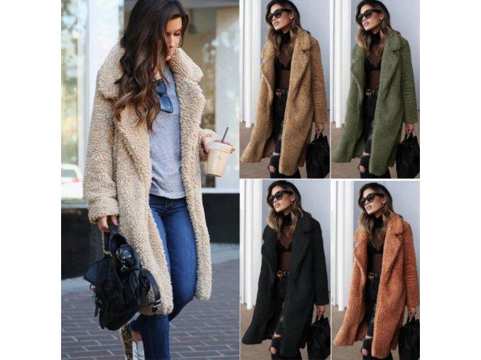 Zimný elegantný Teddy kabát - 5 farieb