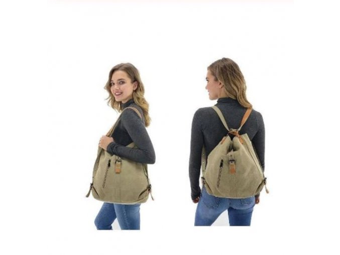 Dámske kabelky - 2v1 kabelka + batoh - cestovná taška - viac farieb