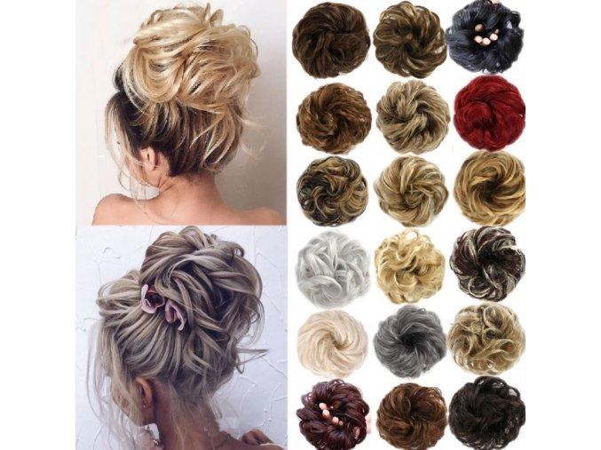 Účesy - drdol - gumička - vlasová gumička vhodná na drdol - darček pre ženu - výpredaj skladu - pre vlasy