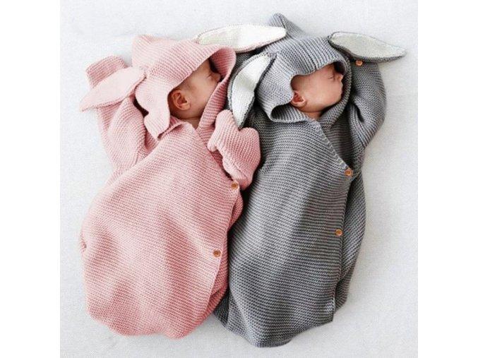 Miminko - detský spací pytel pro miminko s ouškama - zavinovačka - spací pytel - výprodej skladu