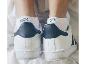 Dárky k Vánocům pro muže- ponožky černé bílé s nápisem, TIP NA DÁREK (Barva Černá)