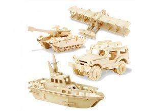 Darčeky pre deti hračky pre deti- 3D drevené puzzle na zostavení (Varianta 1)