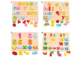 Darčeky pre deti tipy na darčeky best darčeky pre deti hračky pre deti detské hračky drevené hračky interaktívne hračky - drevené tabuľky prvé čísla a prvé písmenká (Barva 1)