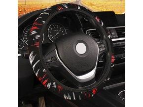 darčeky pre mužov Potreby pre auto autá - univerzálny látkový poťah na volant - 3 varianty (Farba Červená)