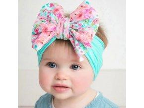 Detská čelenka- čelenky do vlasov s veľkou mašľou pre deti viac variantov (Farba Béžová)
