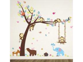 23528 detska izba roztomile detske samolepky na stenu s motivmi zvieratiek