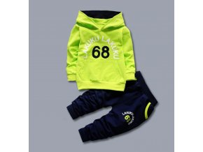 Detská športová tepláková súprava- zelená (Velikost 6 rokov)