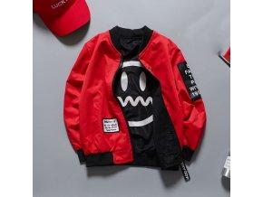 Detské jesenné bundy- luxusná červená bunda pre chlapcov- VÝPREDAJ SKLADU (Velikost 10 rokov)