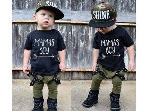 Detské oblečenia- chlapčenský ARMY set tričko a nohavice- VÝPREDAJ SKLADU (Velikost 12m)