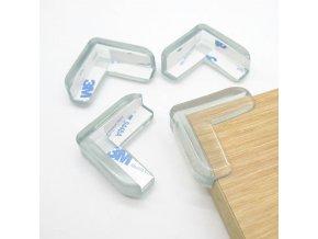 Gumová ochrana na rohy 4ks v balení- viac farieb (Farba Biela)