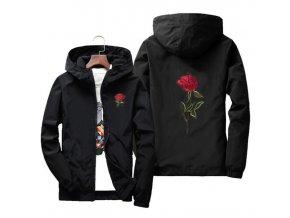 Podzimní bunda s růží (Barva Oranžová, Vel XXL)