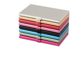 Kovové ochranné pouzdro na vizitky a kreditní karty (Barva: zlatá)