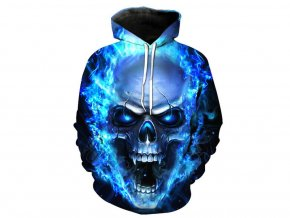 Modrá pánská mikina s kapucí (Vel XXL)