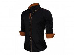 Pánská košile (Barva Černá, Vel XXL)