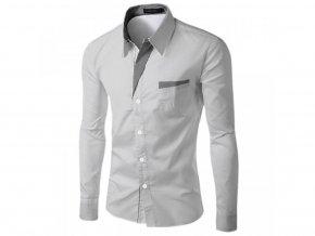 Pánská košile s dlouhým rukávem (Barva Růžová, Vel XXL)
