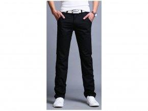 Pánské černé slim kalhoty (Vel 38)