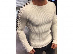 Pánský luxusní svetr pulovr (Barva Zelená, Vel 3XL)