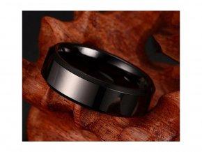 Pánský prsten v titanové barvě (Vel 9 = 1,9 cm)