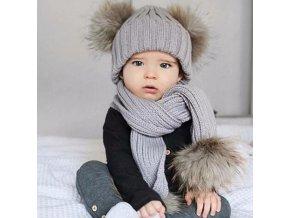 8960 pre deti zimny set ciapka a sal s brmbolcom vypredaj skladu