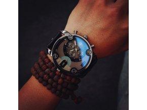 Pre mužov - pánske hodinky Moderné hodinky čierne, hnědé- Darčeky na Vianoce (Farba Čierna)