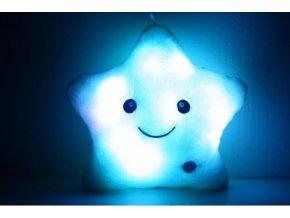 Svítící LED polštář - hvězda - různé barvy - SLEVA 40% (Barva Žlutá)
