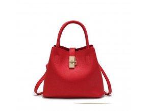 Stylová dámská kabelka taška do ruky červená černá a růžová barva na výběr (Barva: růžová)