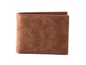 Stylová pánská peněženka z umělé kůže s kapsičkou na zip na drobné - tip na dárek pro něho (Barva: hnědá)