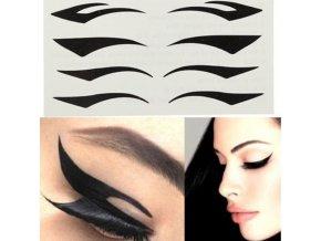 17742 tip kozmetika make up zdravie vychytavky pomocka pre licenie oci sablona na licenie ocne linky 10 kusov