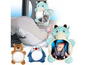 TIP pre deti vychytávky detské autosedačky detská autosedačka - detské spätné zrkadlo do auta (Farba Medveď)