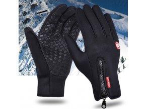 Zimné pánske dotykové rukavice na mobilný telefón- 4 varianty (Varianta 1)