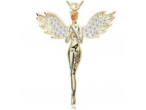 11627 zlaty anjel privesok na retiazku