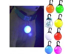 Zvieratá - LED svetlo na obojok pre psov a mačky- viac farieb (Farba Červená)