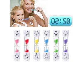 Pre deti- presýpací hodiny na čistenie zubov