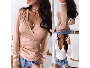 Luxusná dámska tričká s dlhým rukávom