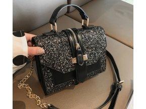 Pre ženy- trblietavé dámske kabelky čierna, biela- Darček pre ženu