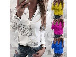 Štýlová fashion blůzka s potlačami až 3XL viac farieb