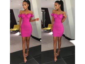 Dámske sexy růžové letné šaty NOVINKA