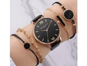 Pre ženy- dámske luxusné elegantné hodinky s náramky 5ks/set AKCIA