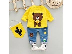 Pre deti- štýlový set pre mikina a nohavice tri farby AKCIA