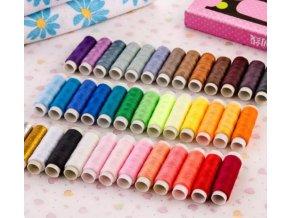 Sada farebných cievky nití pre šitie a vyšívanie 36 farebných- Výpredaj