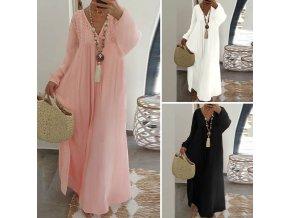 Pohodlné dámske letné dlhé šaty pre plnoštíhle až 5XL NEW